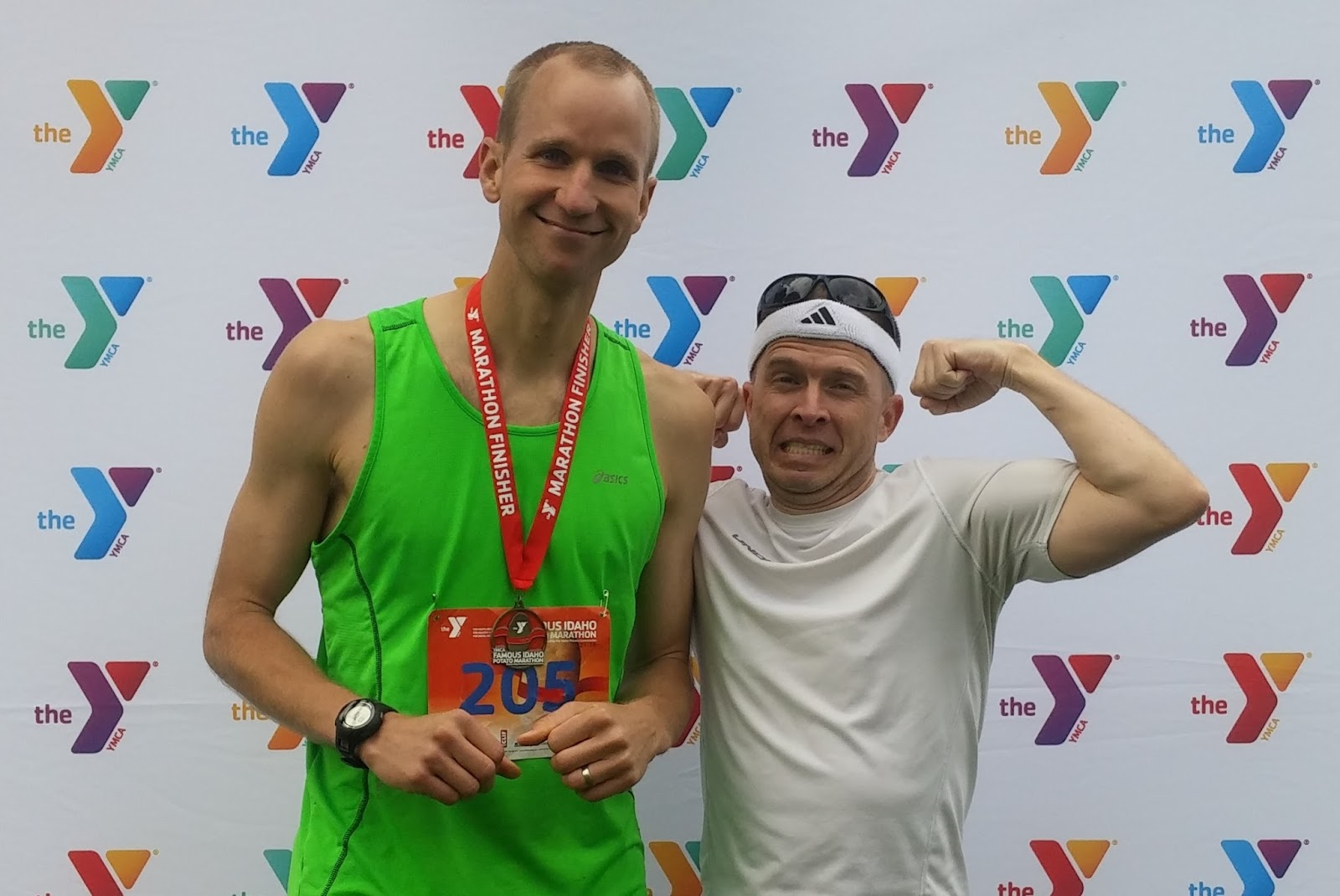Post race photo with Greg.