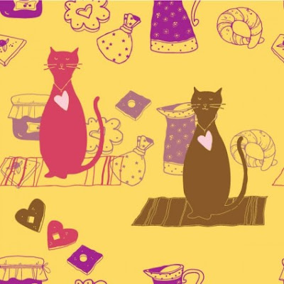 cartoon cat background vector