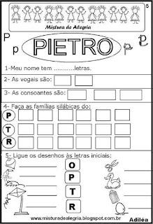 Brincando com o nome Pietro