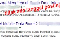 Cara Menyembunyikan Tanggal Artikel Blogspot Pada Hasil Pencarian Google