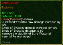 naruto castle defense 6.0 gara Sand gourd