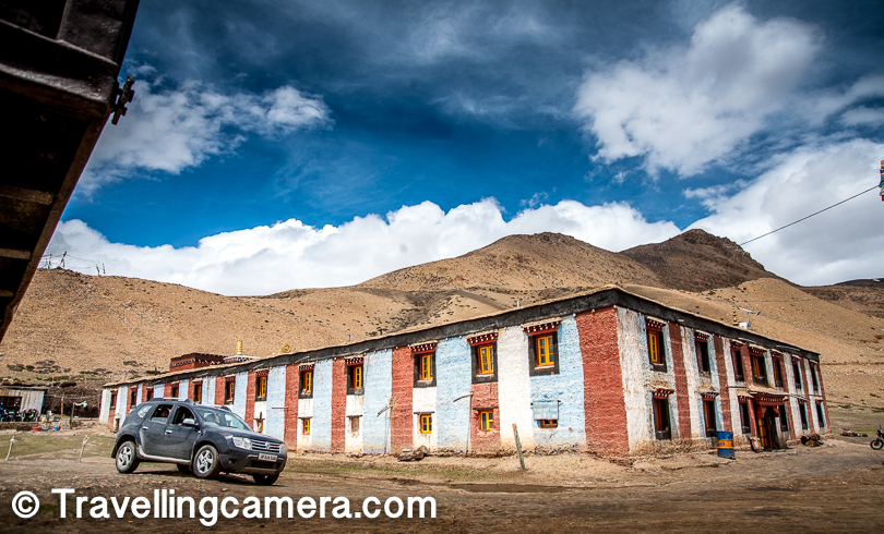 Komic Gompa has pretty important status in Spiti valley. Interesting there were lot of vehicles at the time we reached and I am comparing that with people visiting other surrounding places like Langza and Key. That can be incidental and a perception that I made after reaching the place.