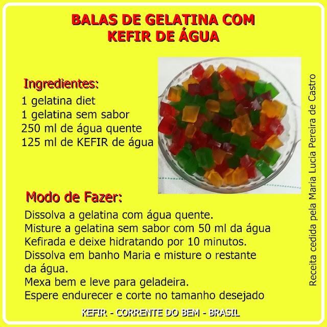 KEFIR DE ÁGUA - BALAS DE GELATINA