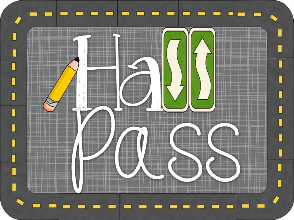 printable hall passes