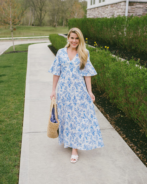 Blue and White Dress for Summer'