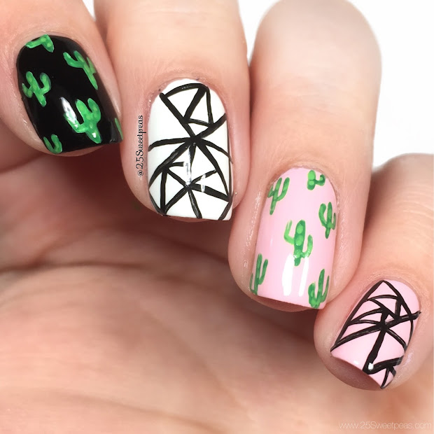 abstract nails cacti - 25 sweetpeas