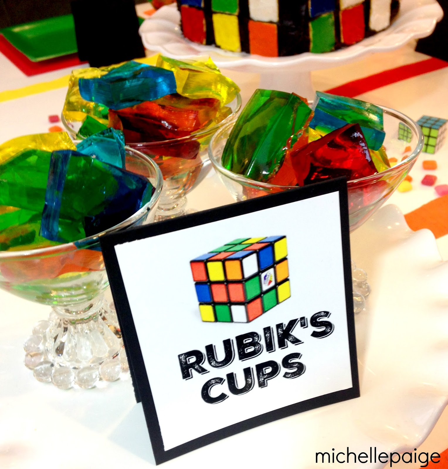 Michelle Paige Blogs Rubik S Cube Party