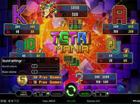 Game Tetri Mania khi người chơi đang sử dụng