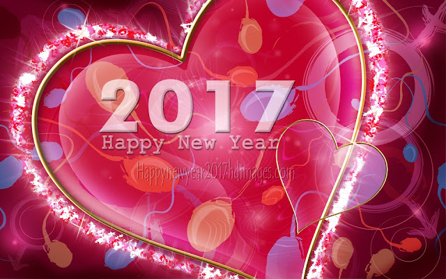 Happy New Year 2017 Love Background Wallpapers HD Download Free For Desktop