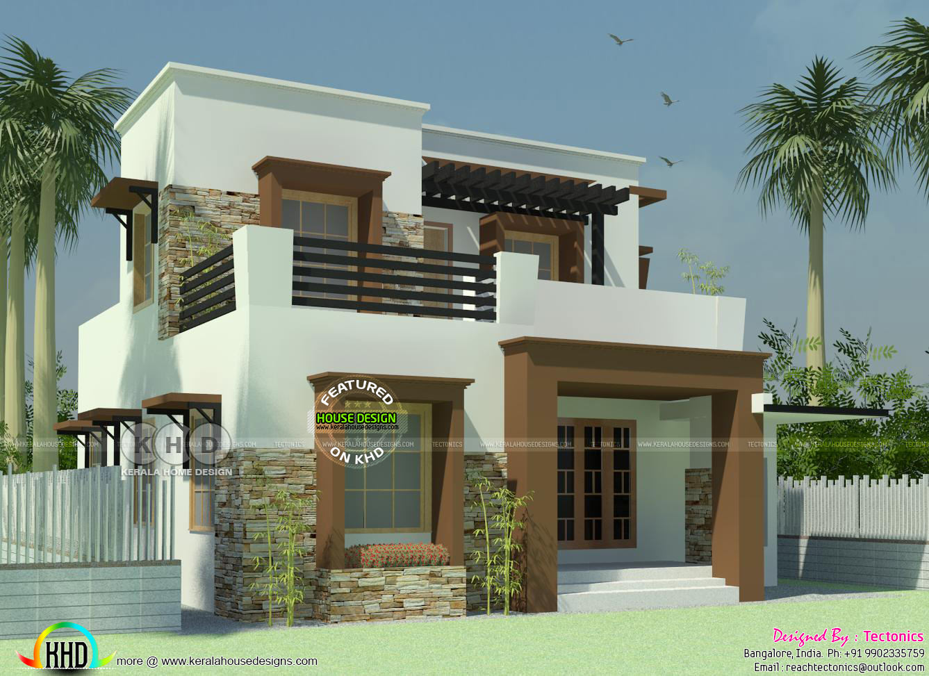 3 Bedroom House With Its Floor Plan Kerala Home Design Bloglovin