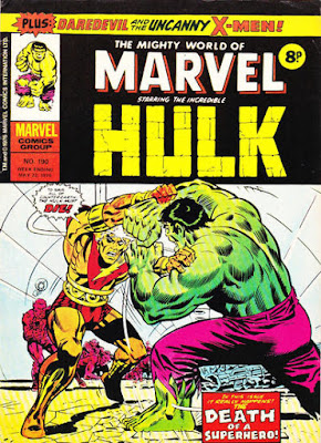 Mighty World of Marvel #190, Hulk vs Adam Warlock