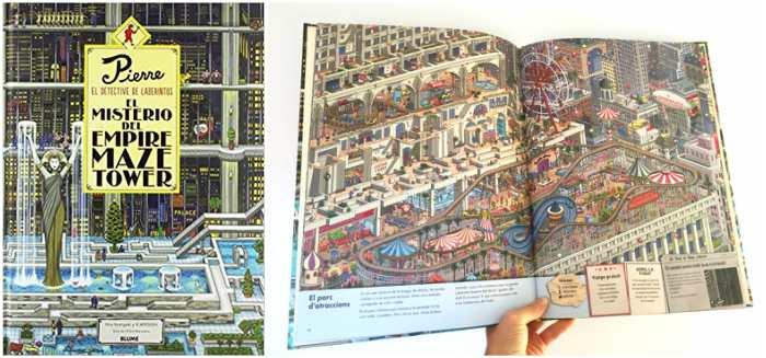 mejores cuentos infantiles 5, 6, 7, 8 años, pierre detective laberintos misterio empire maze tower