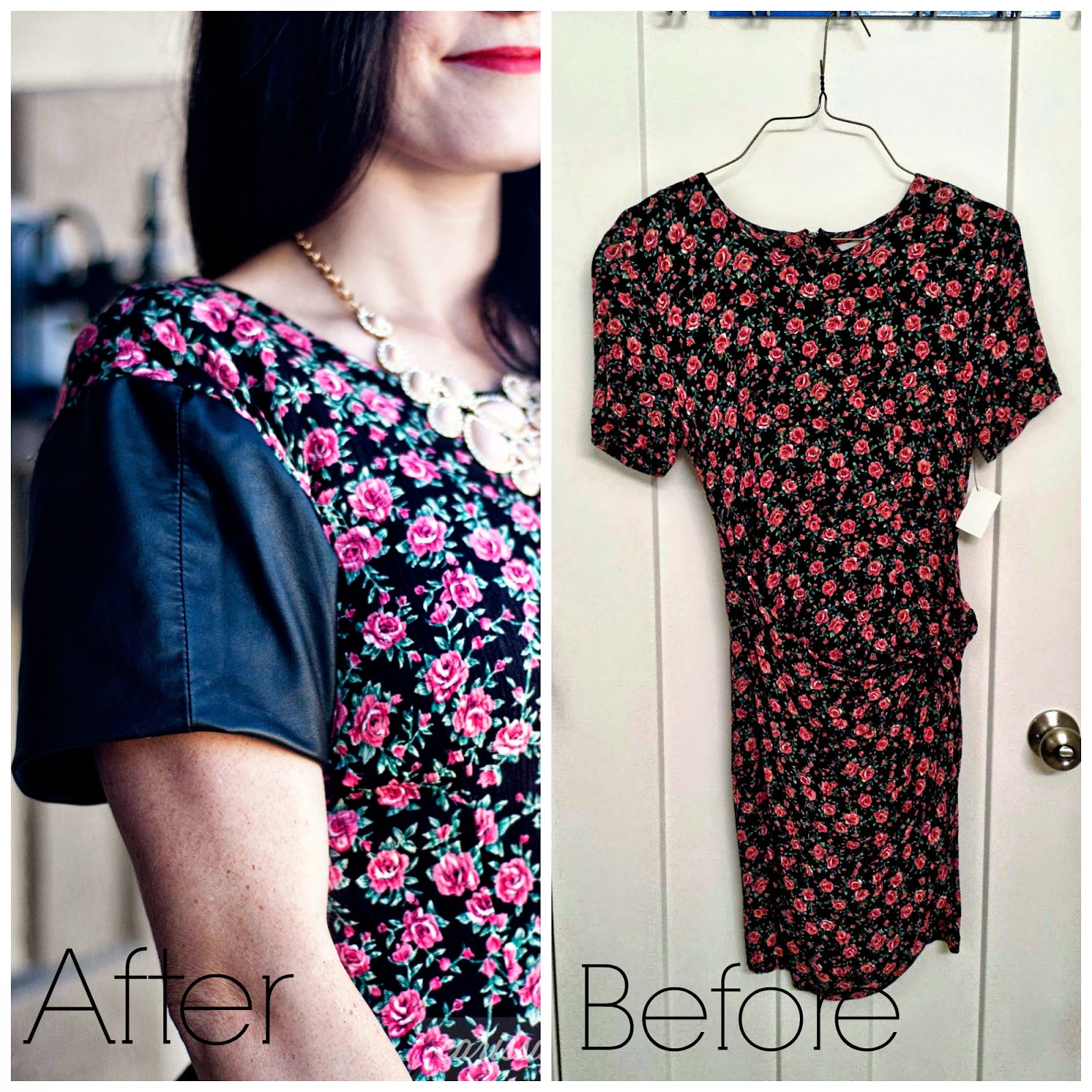 Carissa Miss: DIY Leather Sleeve Dress