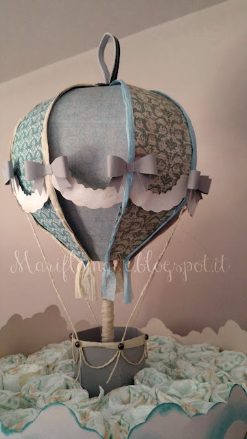 svg cut, hot air balloon, versamagic, diapers cake, stork, baby shower