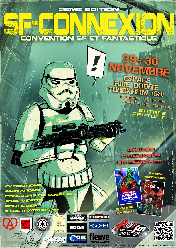 SF Connexion 2014 68ème impérial turckheim 68 alsace 30 29 novembre 2014 rive droite espace samedi dimanche davide fabbri darkhorse dc comics julien motteler delcourt soleil glenat detectives ultime etoile arkeod batman star wars elodie morgen eva miller denis grienenberger au dela de l illusion jean linnhoff indiana jones iron man jeux videos maquillage fx boutique concours quizz cosplay tombola convention 5eme edition illustrateur scenariste auteur artiste ecrivain dessinateur week end exposition animation