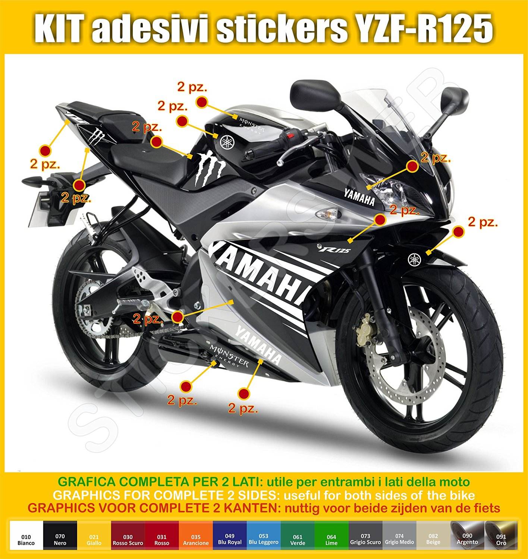 Yamaha Yzf R125 Owners Blog Yamaha Yzf R125 Sticker Decal Kits