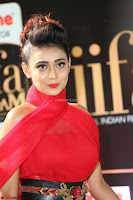 Apoorva in a Stunning Tight Leg Split Sleeveless Red Gown at IIFA Utsavam Awards 19.JPG