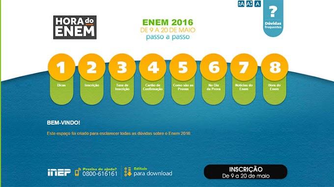 Inscrições para o Enem 2016 começam; taxa custa R$ 68