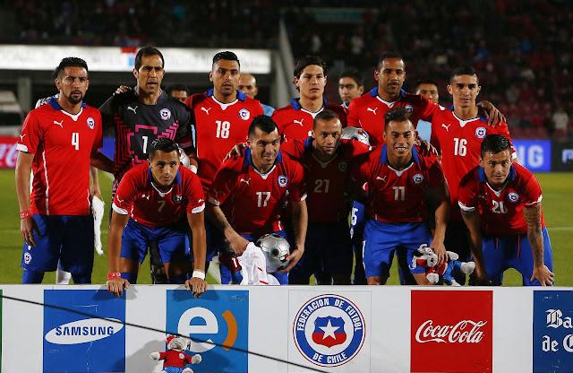 Formación de Chile ante Egipto, amistoso disputado el 30 de mayo de 2014