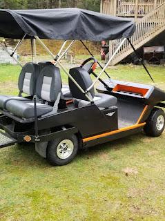Greatmats rubber flooring on golf cart floor boards