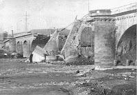 El Pont de les 15 arcades hundido