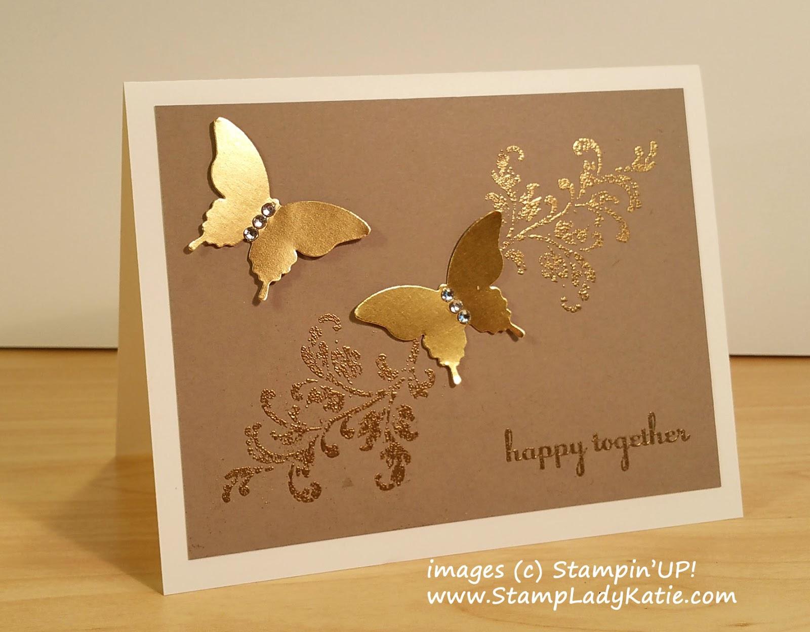 Stampladykatie gold foil butterflies for a golden