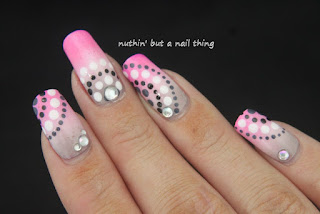 gradient polka dot nail art design idea