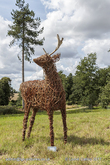 A life size willow deer