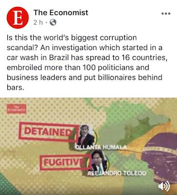 Revista The Economist informa sobre la corrupción en Brasil