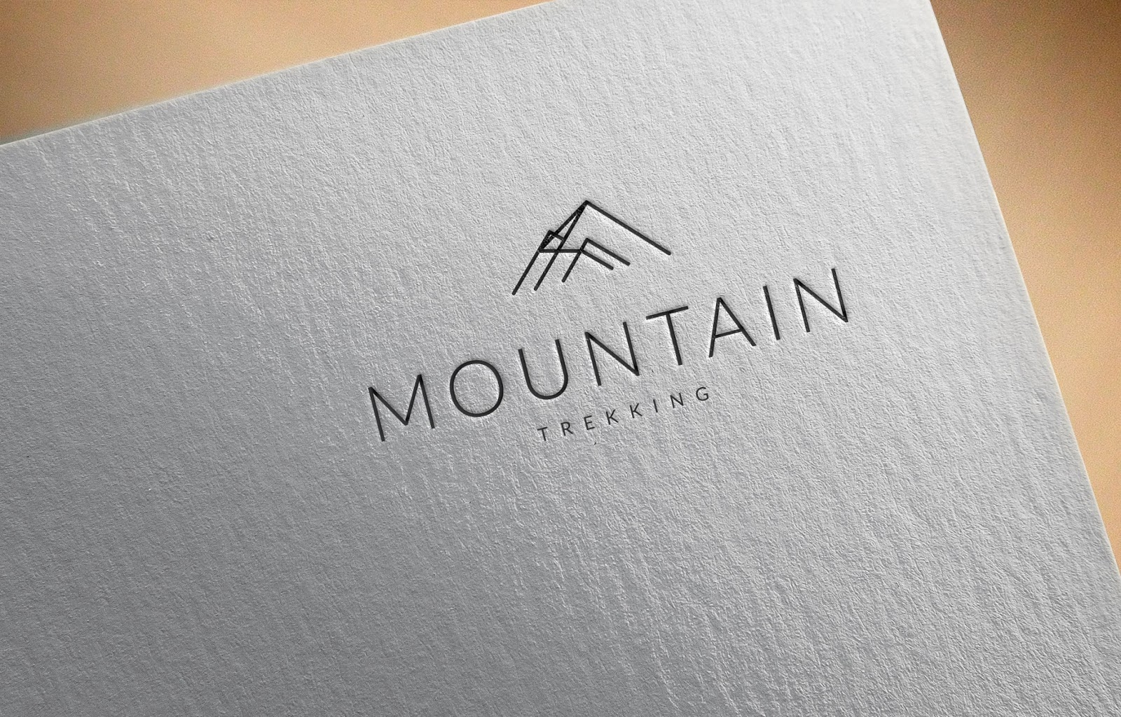 Mountain Trekking Logo Idea