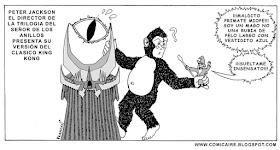 Meme de humor sobre King Kong y El señor de los anillos