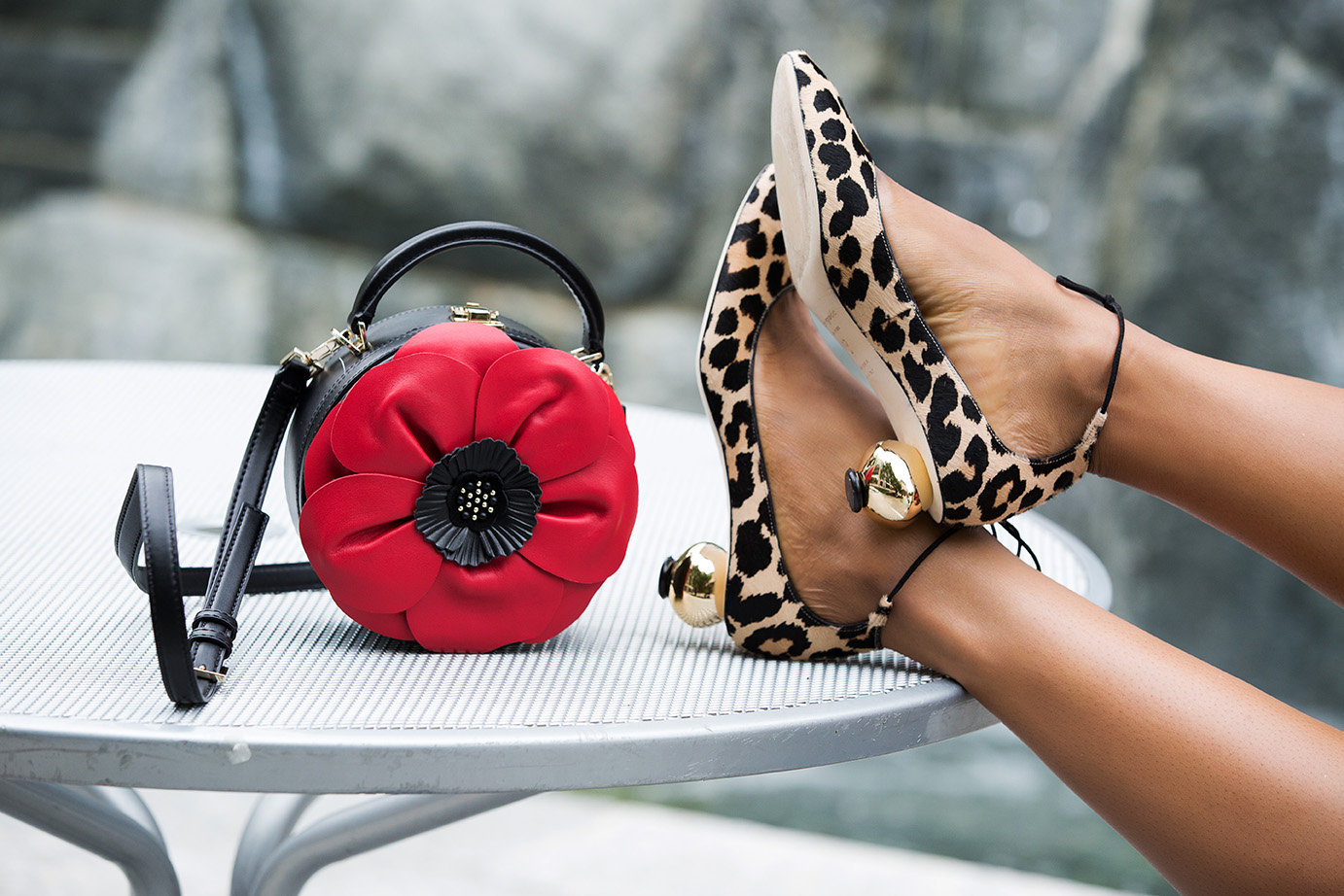 leopard shoes, kate spade dress, www.jadore-fashion.com