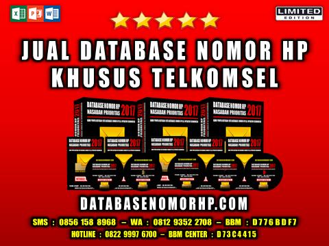 Jual Database Nomor HP Khusus Telkomsel