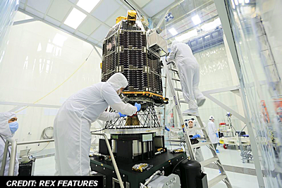 Spacecraft Being Sanitized