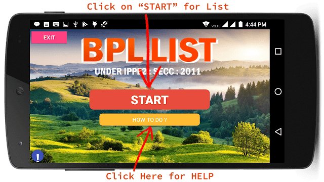 All India BPL List Mobile App Free Download - Step 2