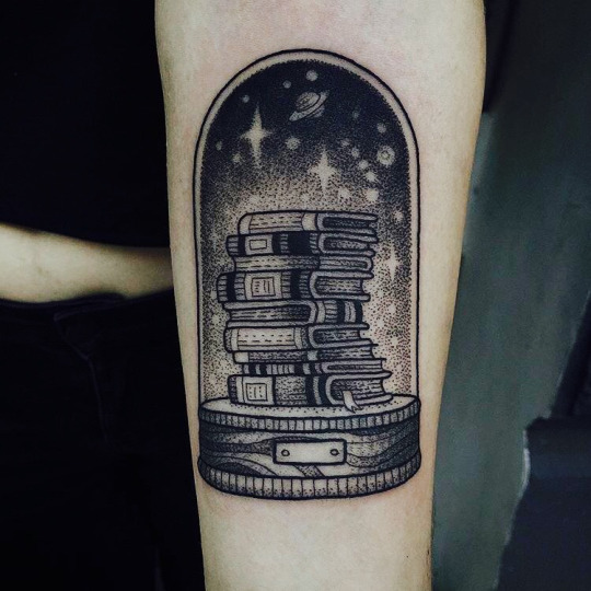 Amazing Book Tattoo on Arm