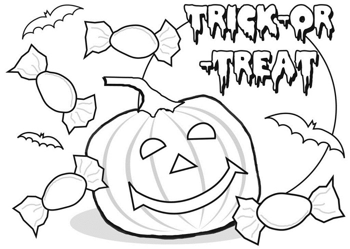 Free Printable Happy Halloween Coloring Pages for kids ...