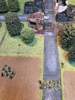 The hamlet falls to the British attack