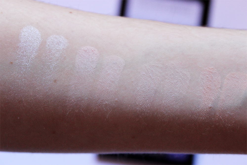 NYX Cosmetics Ultimate Cool Neutrals Shadow Palette swatches first row