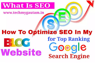 What Is SEO ? How To Optimize SEO In My Blog Website For Top Ranking In Google Search Engine
