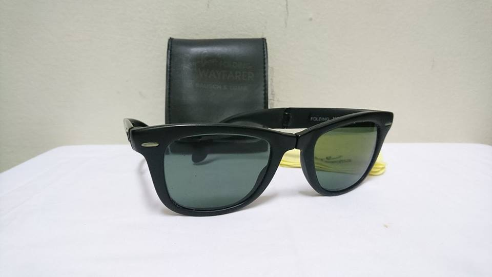 177c6765c01 B l Ray Ban Wayfarer Folding Black W0670 Sunglasses