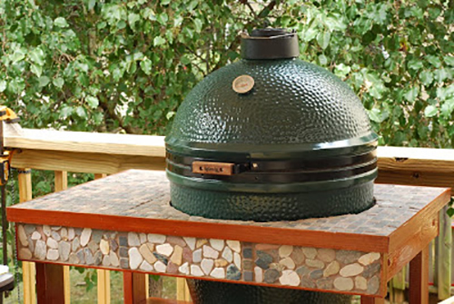 Big green egg kamado table design