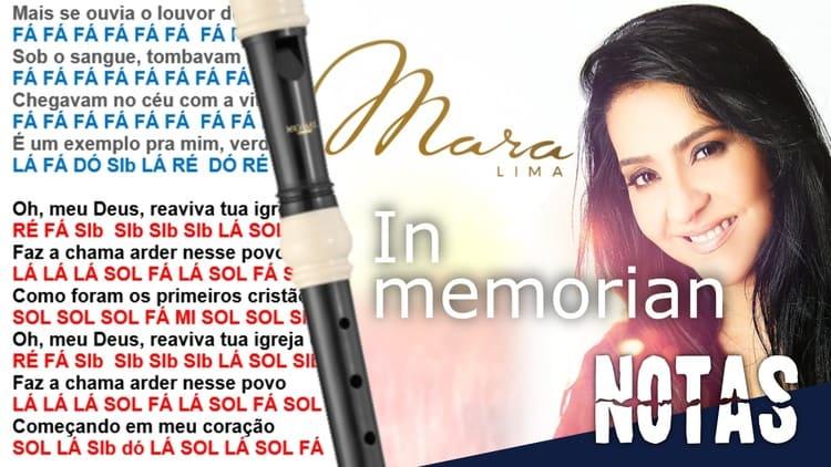 In Memorian - Mara Lima - Cifra melódica