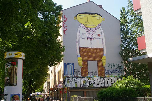 Arte de rua no bairro Kreuzberg em Berlim
