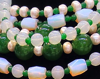 Colorful Jade Bead necklace