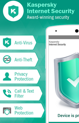 KasperSky Internet Security - Aplikasi Antivirus Android Terbaik