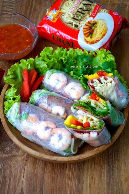 Vietnamese Spring Rolls (dengan mi Urai)