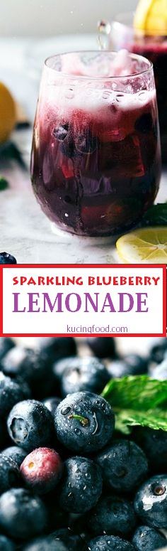 Easy Sparkling Blueberry Lemonade