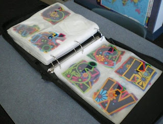 Keep bulletin board letters organized in a photo album or CD storage binder.