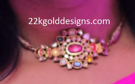 Neck Fitting Navaratna Pendant